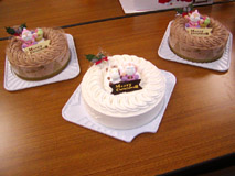 ホールケーキ3つ