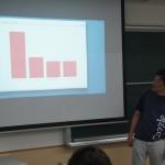 webアンケートプログラムテスト中の安田先生